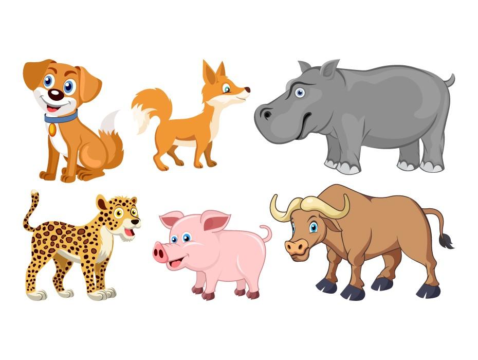 Free Cute Animals Illustration