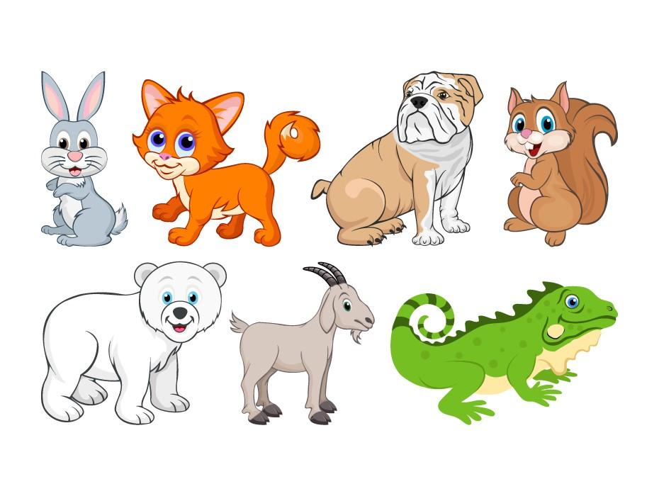 Free Cute Animals Illustrations