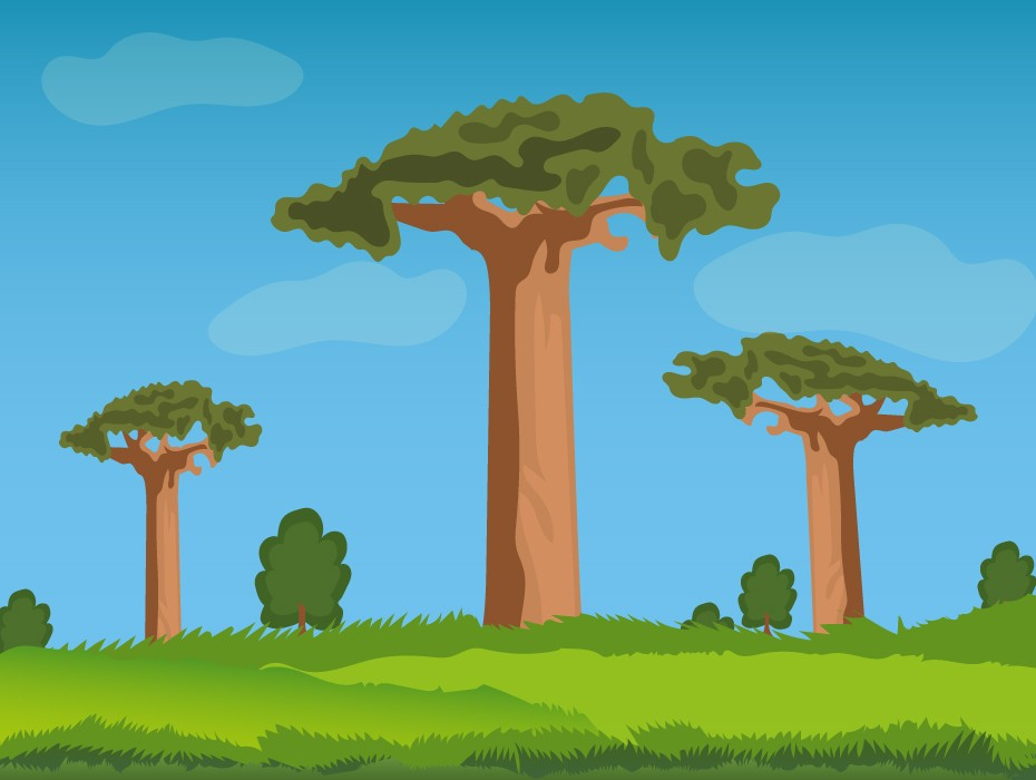 Trees Game Background