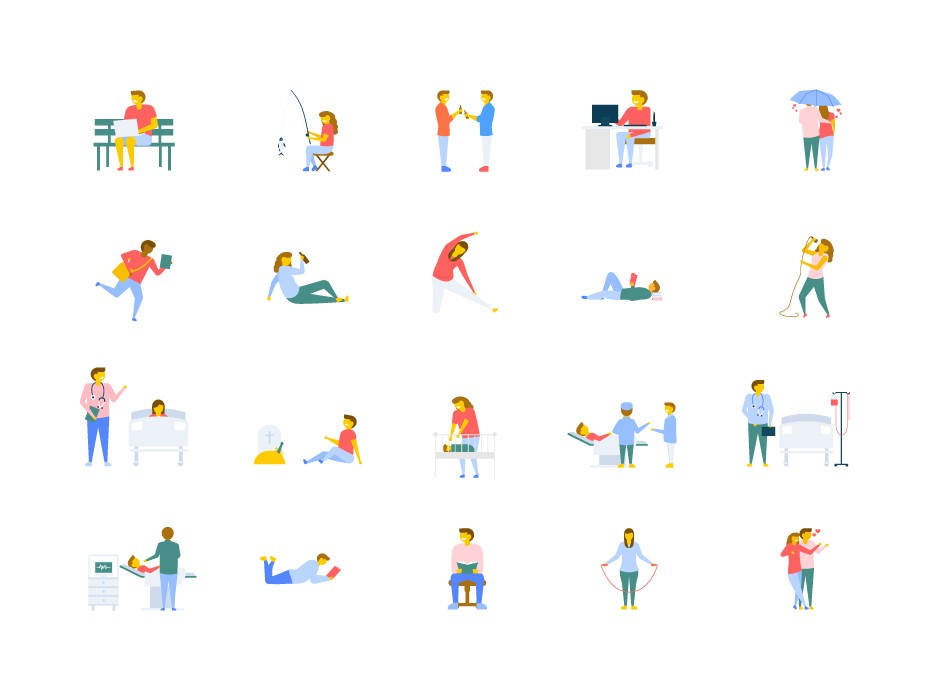 Free People Activities Icons