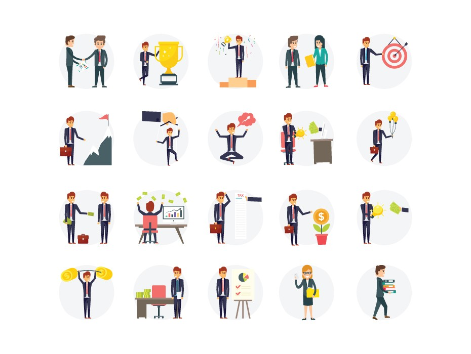 Business Concept Characters