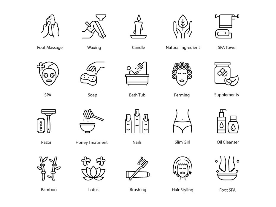 Beauty and Salon Icons