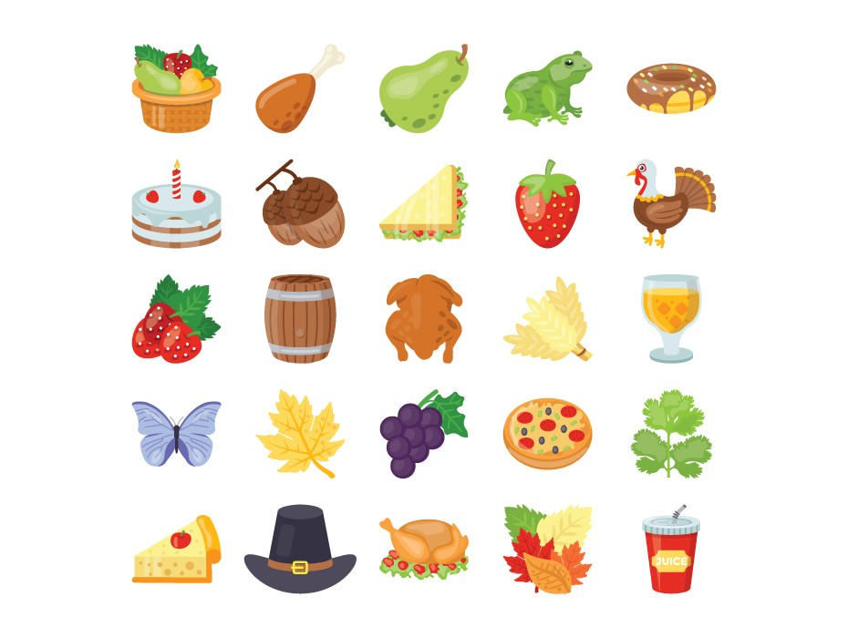 Thanksgiving Meal Icons