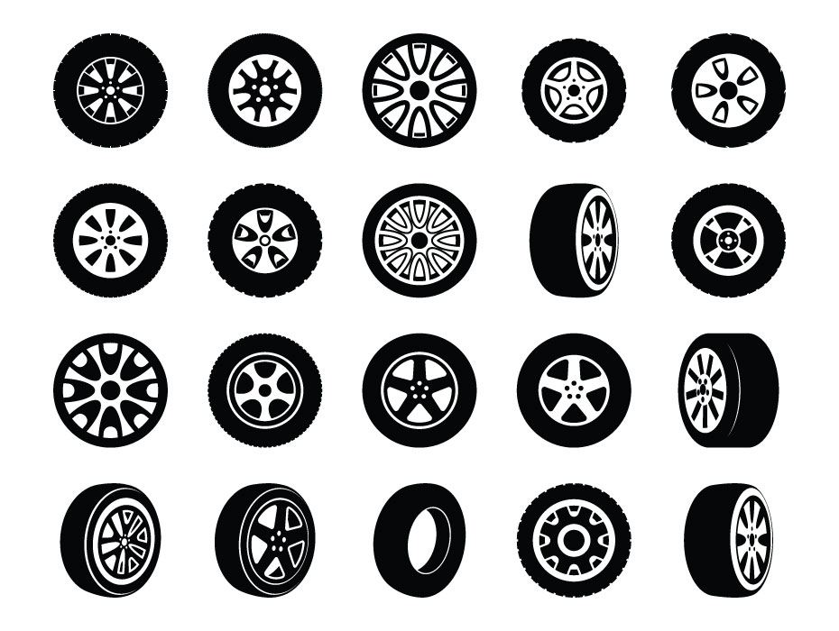Tyre Vector Icons