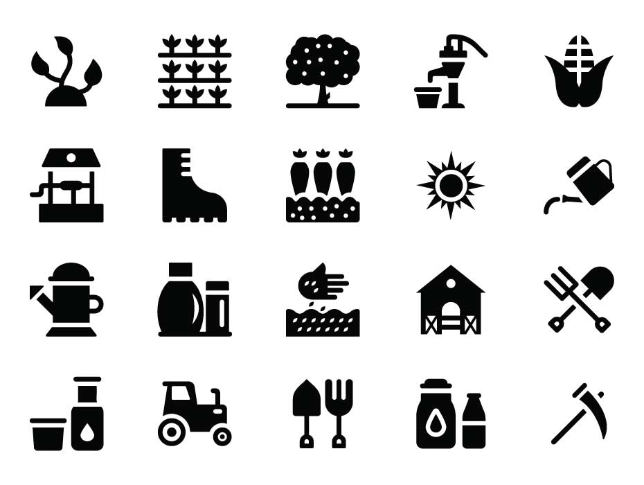 Agriculture Farming Icons