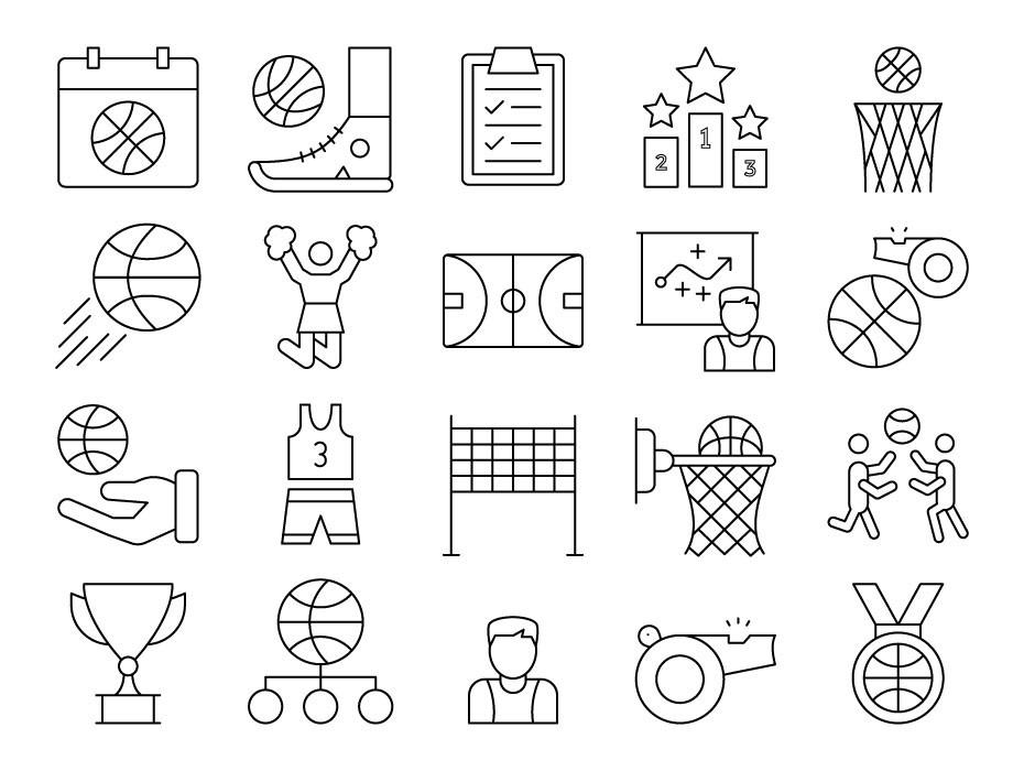 Basketball Icons Free