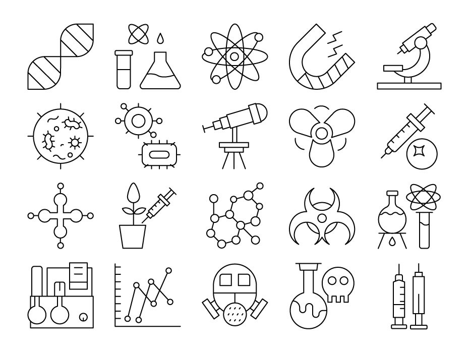 Biochemistry Icon Set