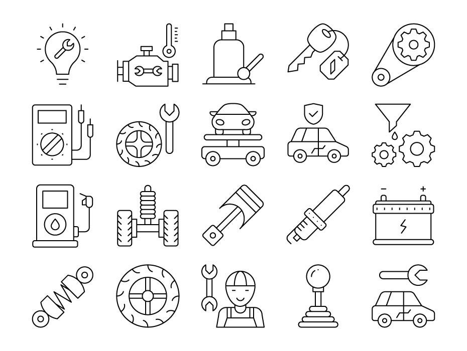 Car Service Icons