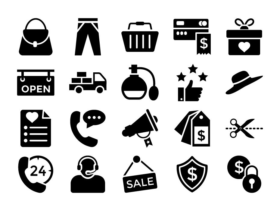 E-Commerce Glyph Icons