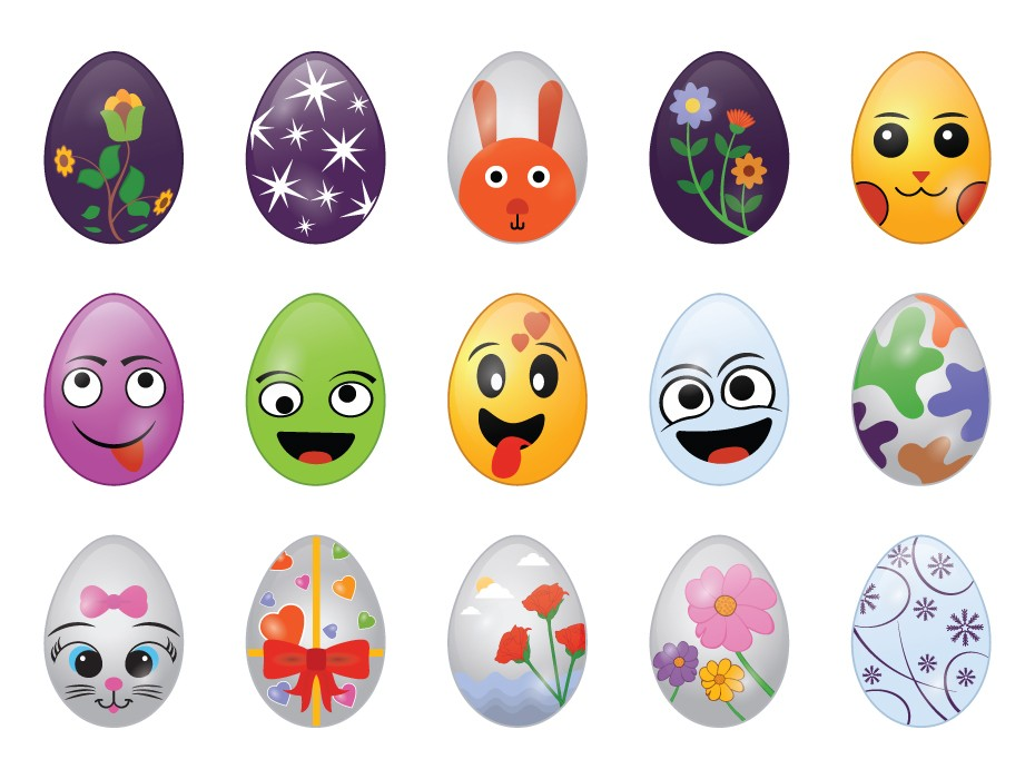Easter Eggs Vector Free