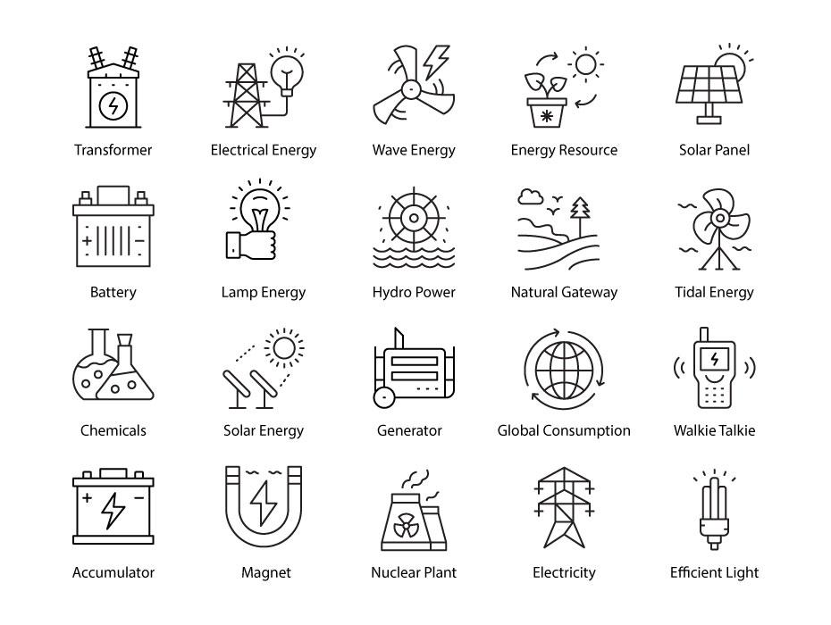 Energy Icons Free