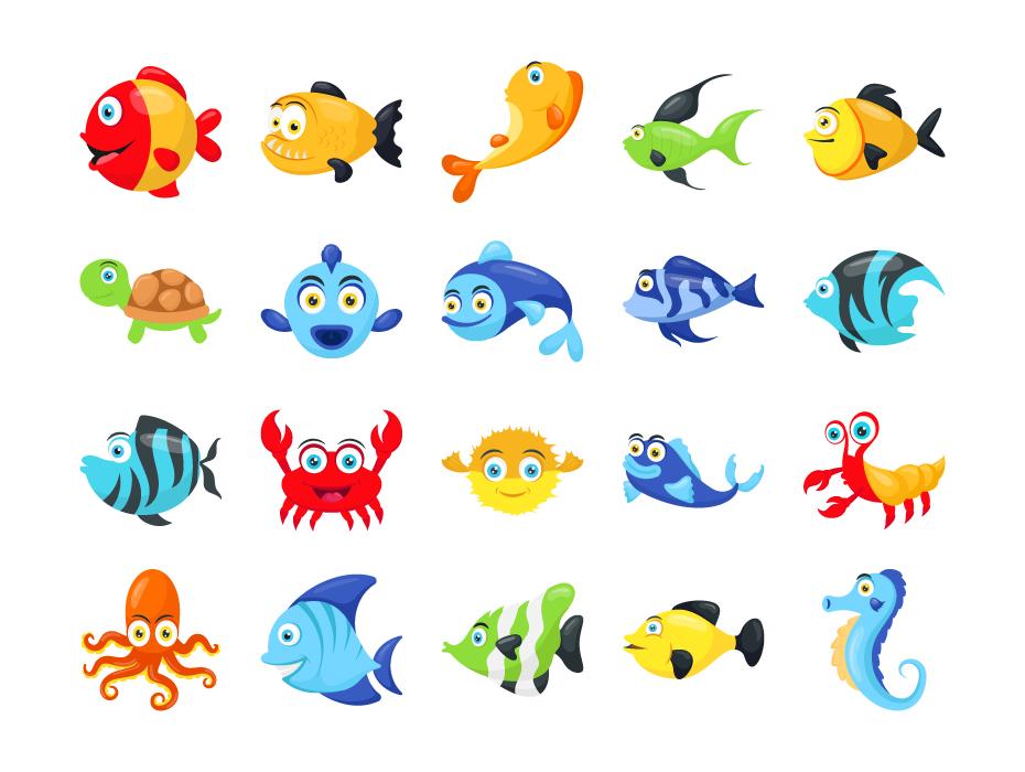 Fish Cartoon Vector