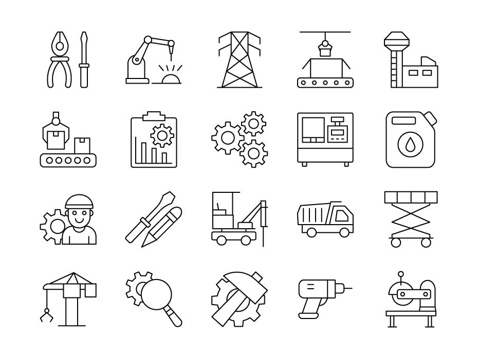 Industrial Line Icon