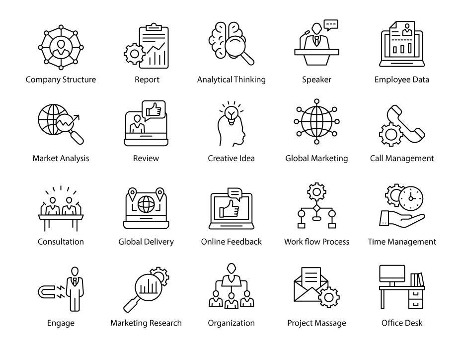 Reputation Management Icons