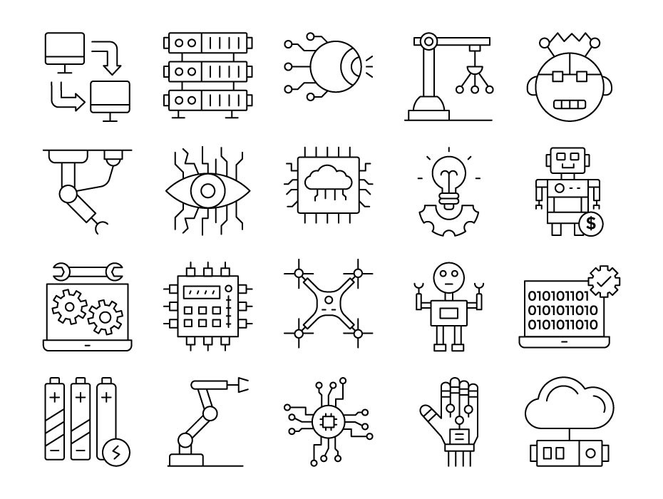 Robotics Engineering Icons