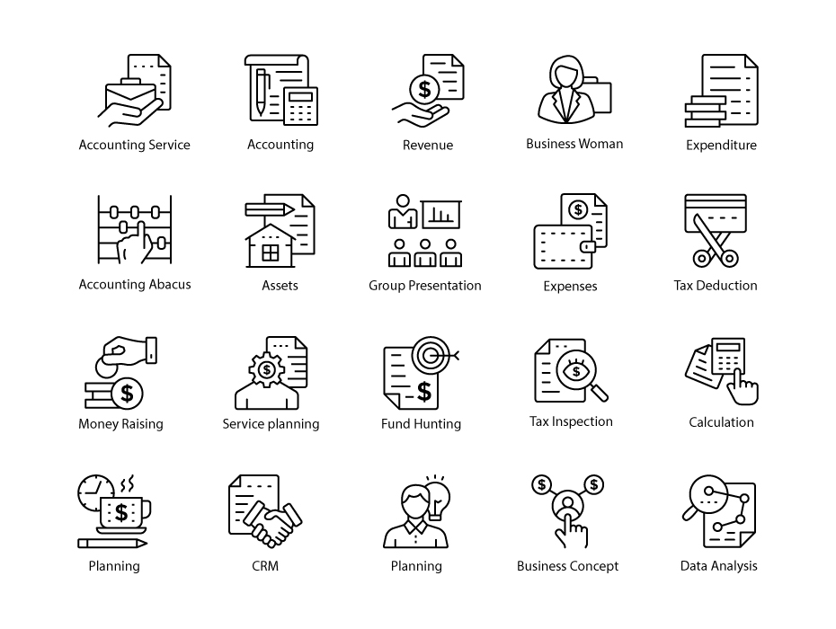 Accounting Line Icons