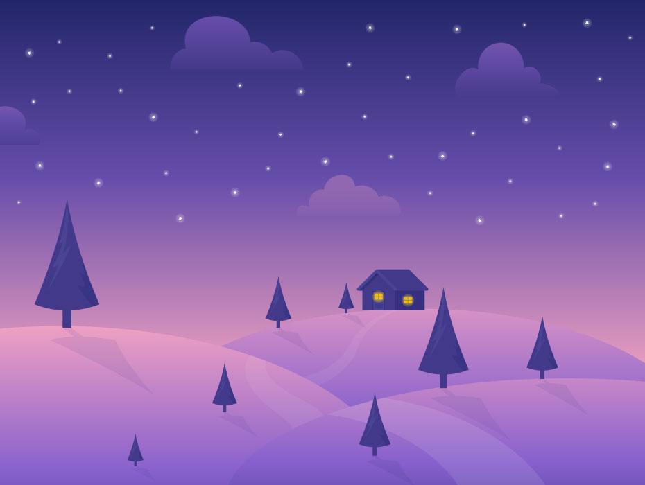 Cold Night Illustration