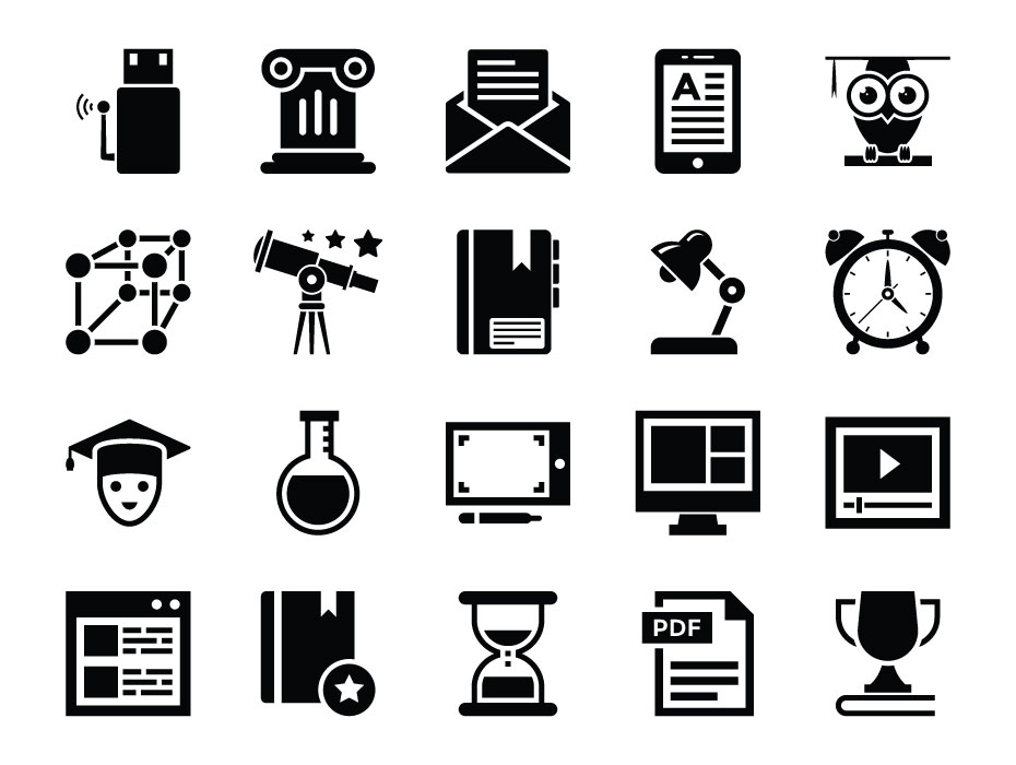E-Learning Icons Free