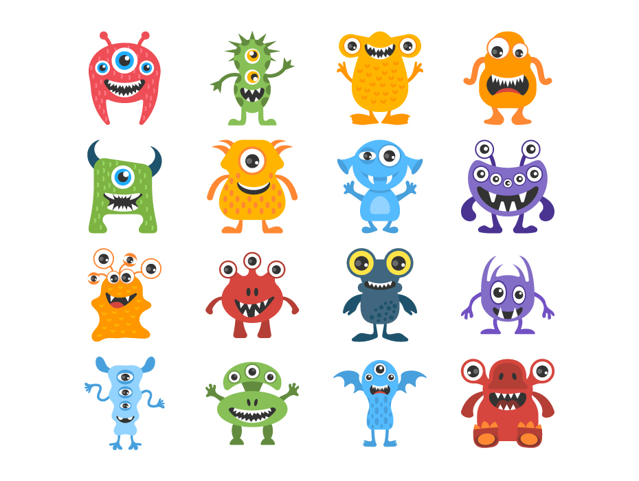 Funny Monster Characters