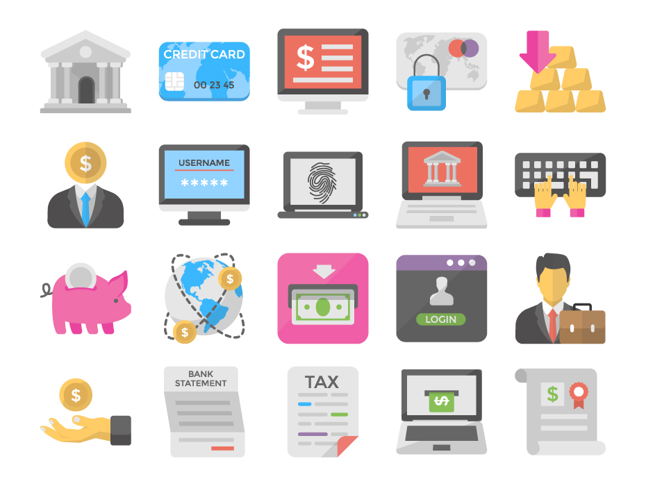 Internet Banking Vectors