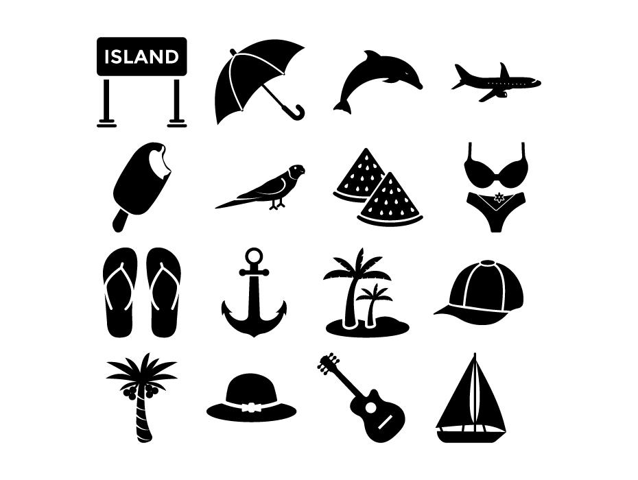 Island Glyph Icons