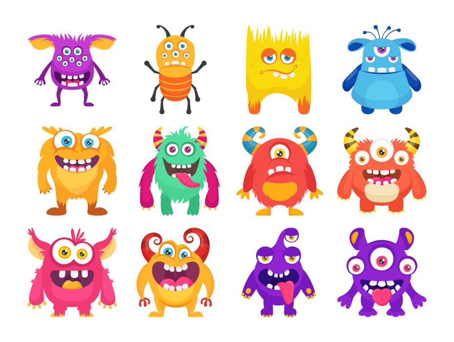 Monster Characters Vectors