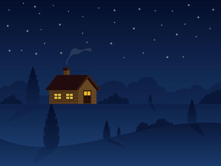 Night Scene Illustration