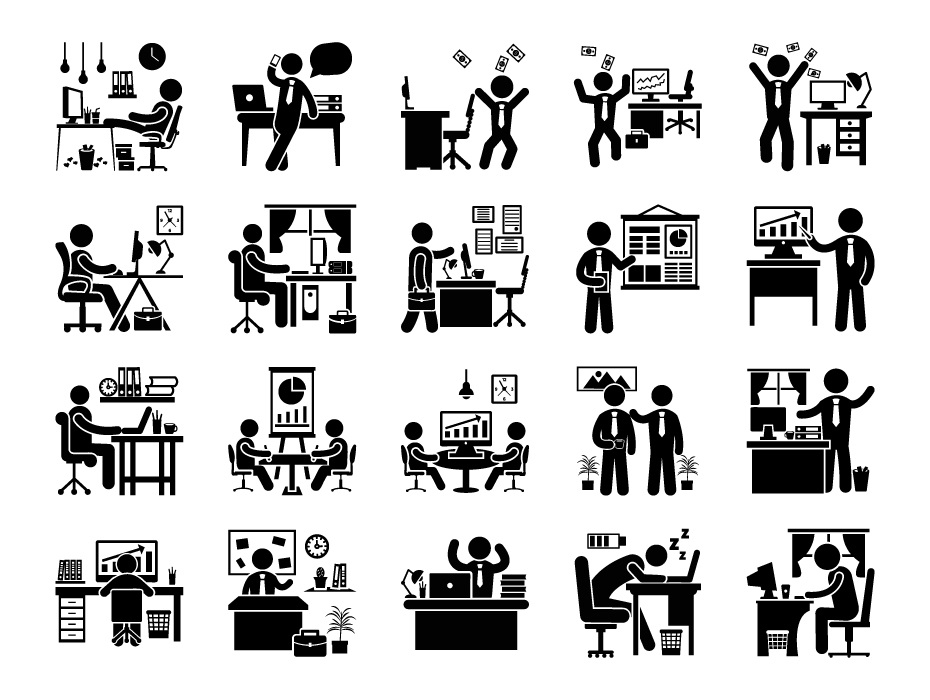 Office Day Glyph Set