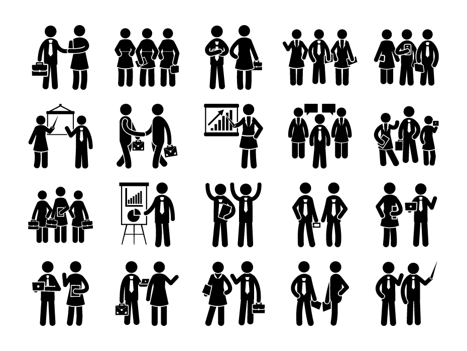 Office Team Pictograms