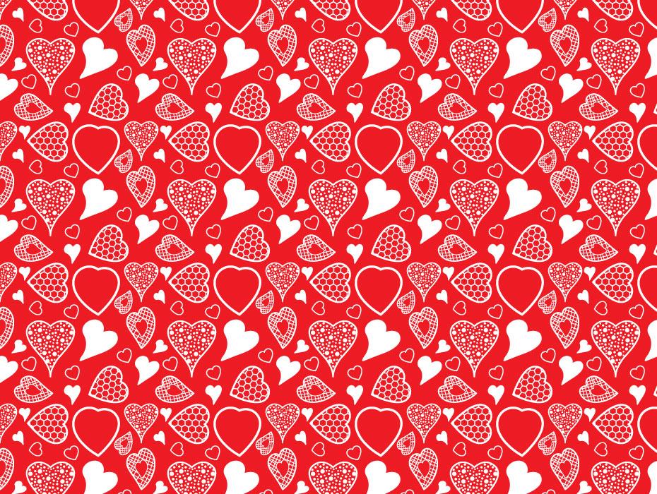 Patterned Hearts Design