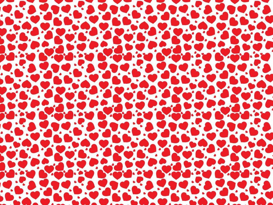 Pure Red Hearts Pattern