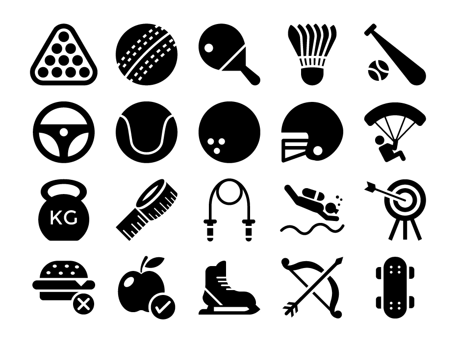 Sports Glyph Icons