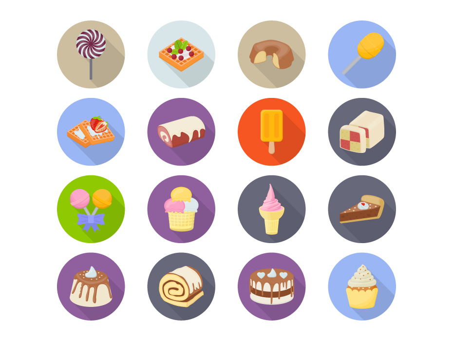 Bakery Products Flat Icons