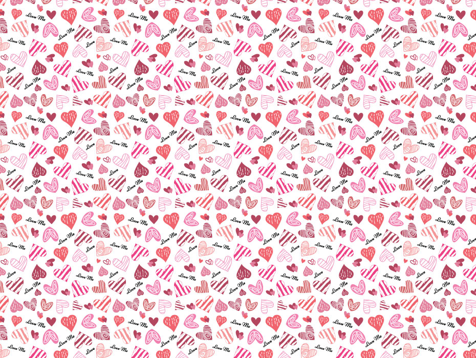 Beautiful Hearts Pattern Design
