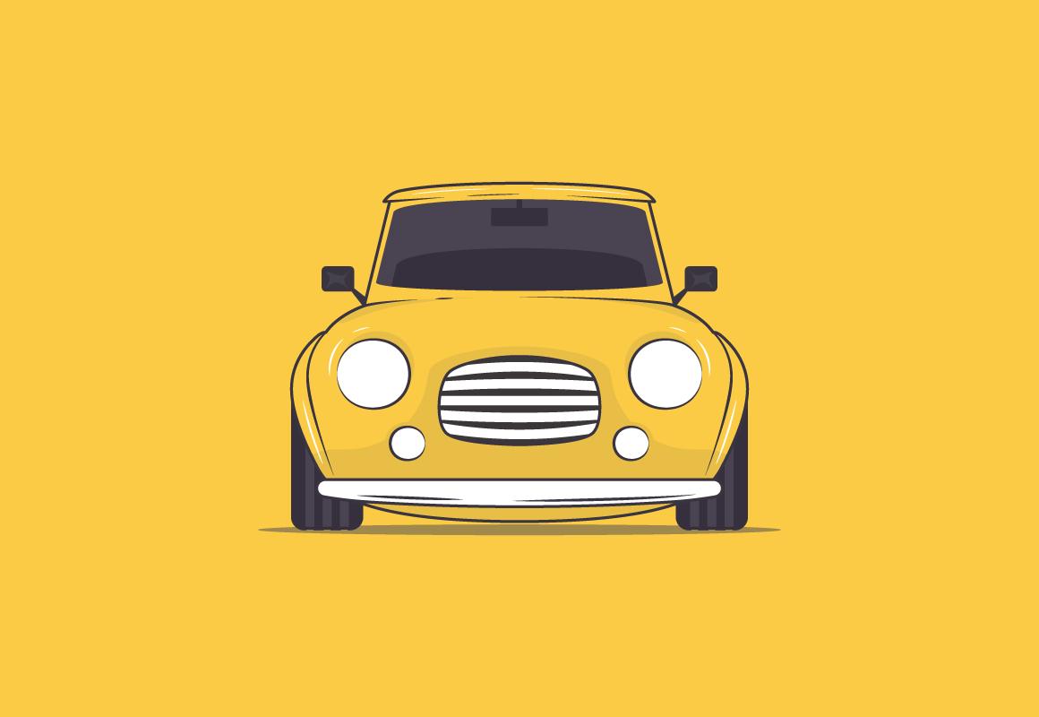 Beetle Car Illustration