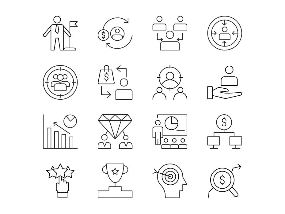 Consumer Behavior Line Icons