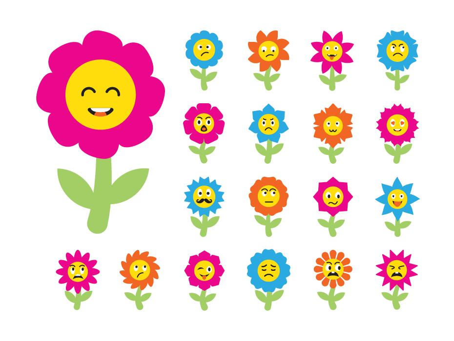 Cute Cartoon Flower Icons
