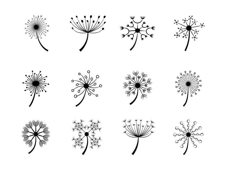 Detailed Flower Line Art