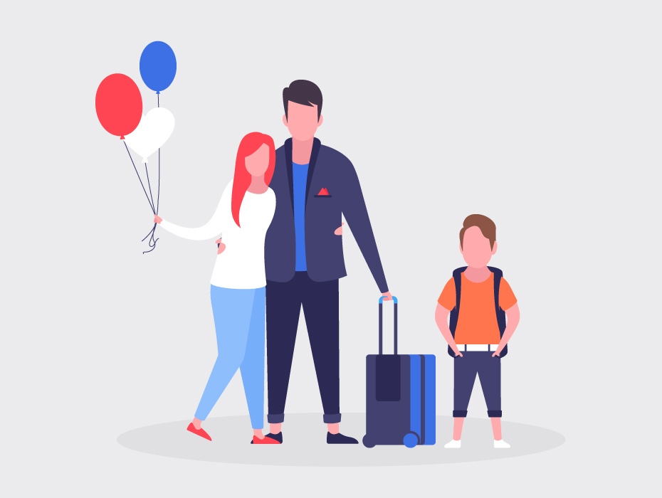 Free Family Vacations Illustration