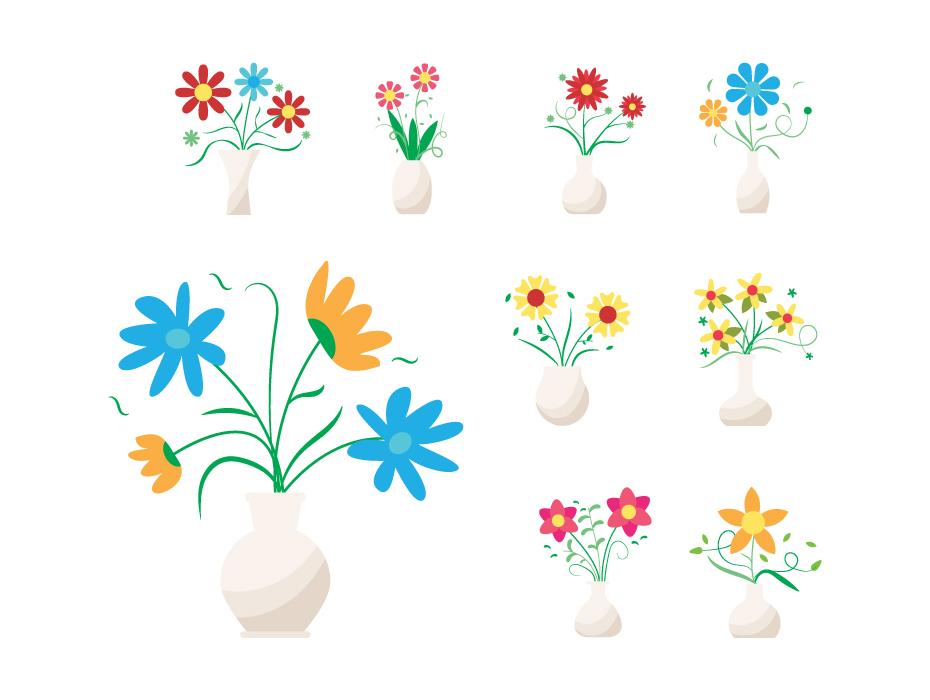Flower Vase Flat Icons