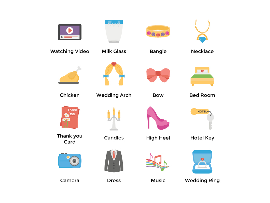 Free Flat Wedding Icons