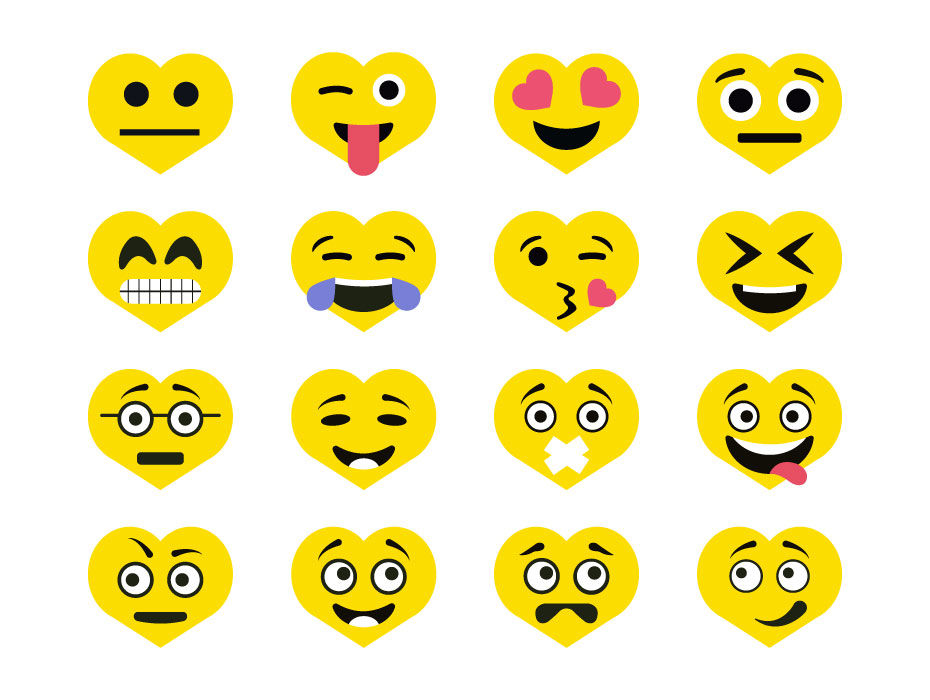 Heart Face Icons