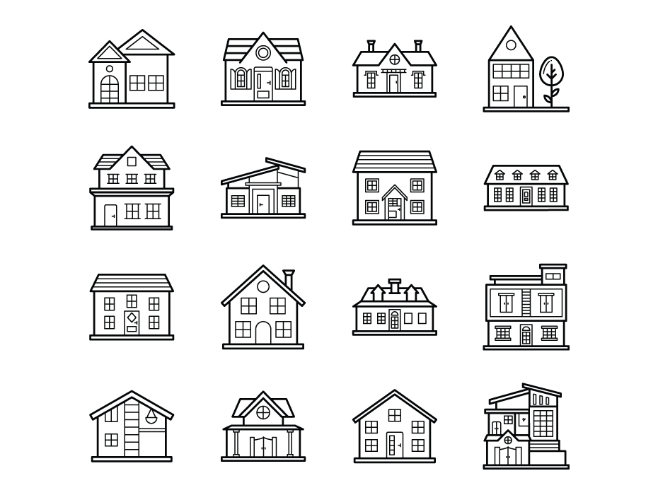 House Architecture Icons