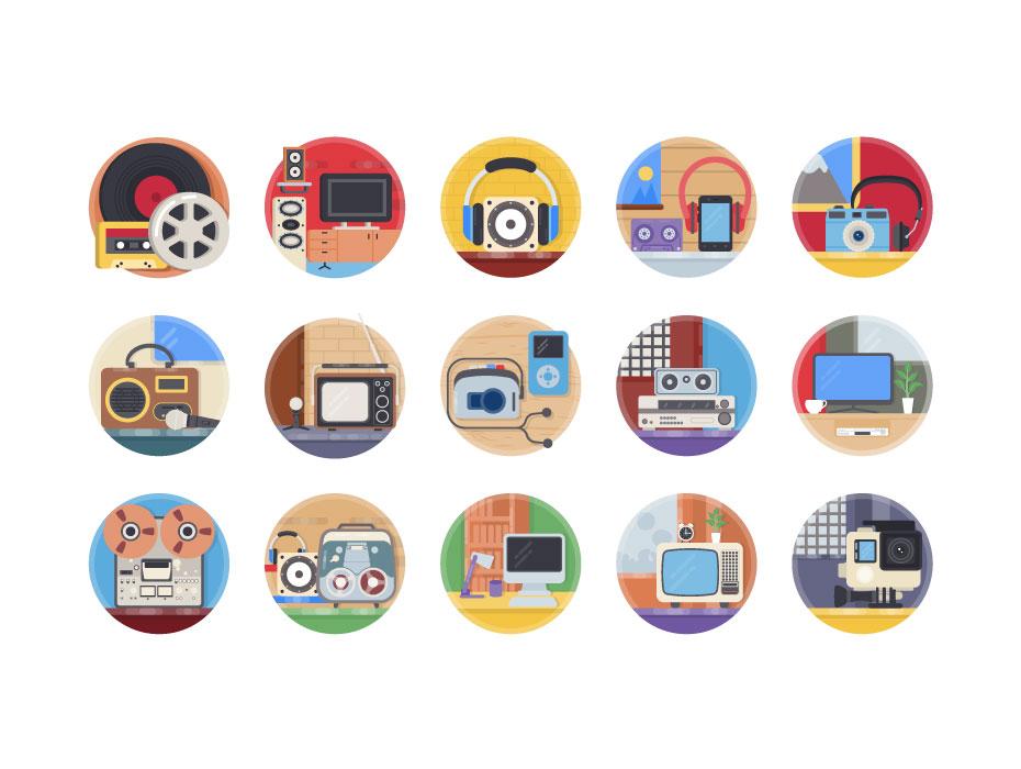 Free Audio Video Cinema Equipments Illustration Download