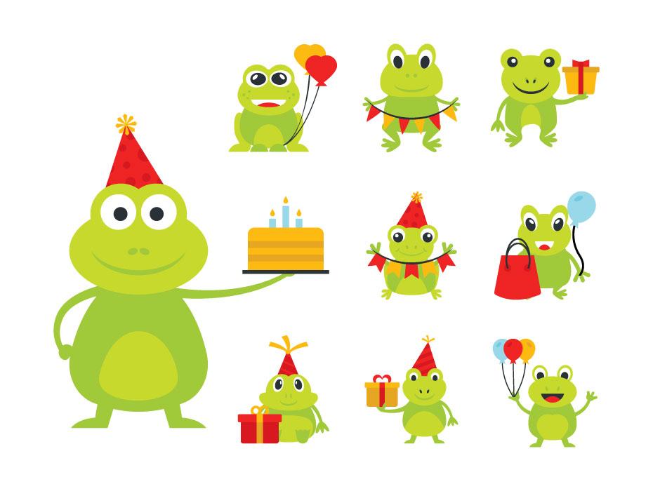 Party Frog Flat Set