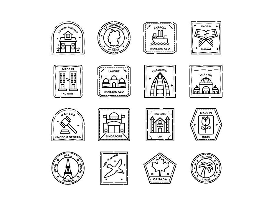 Passport Stamps Free Icons