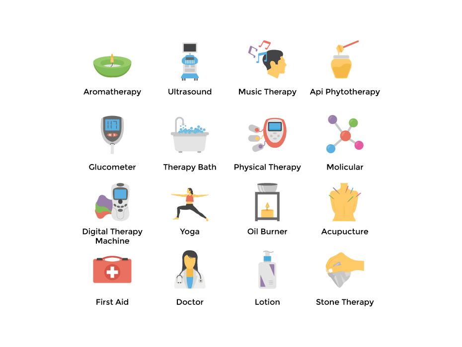 Therapy Symbols Flat Set