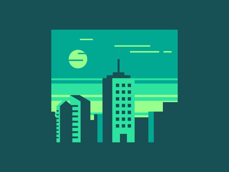 Green City Vector Download