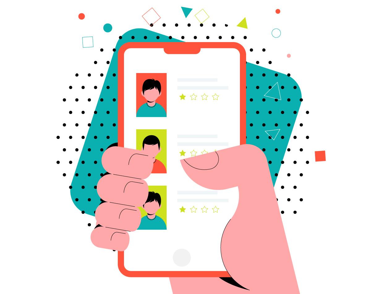 Mobile app Vector Illustration