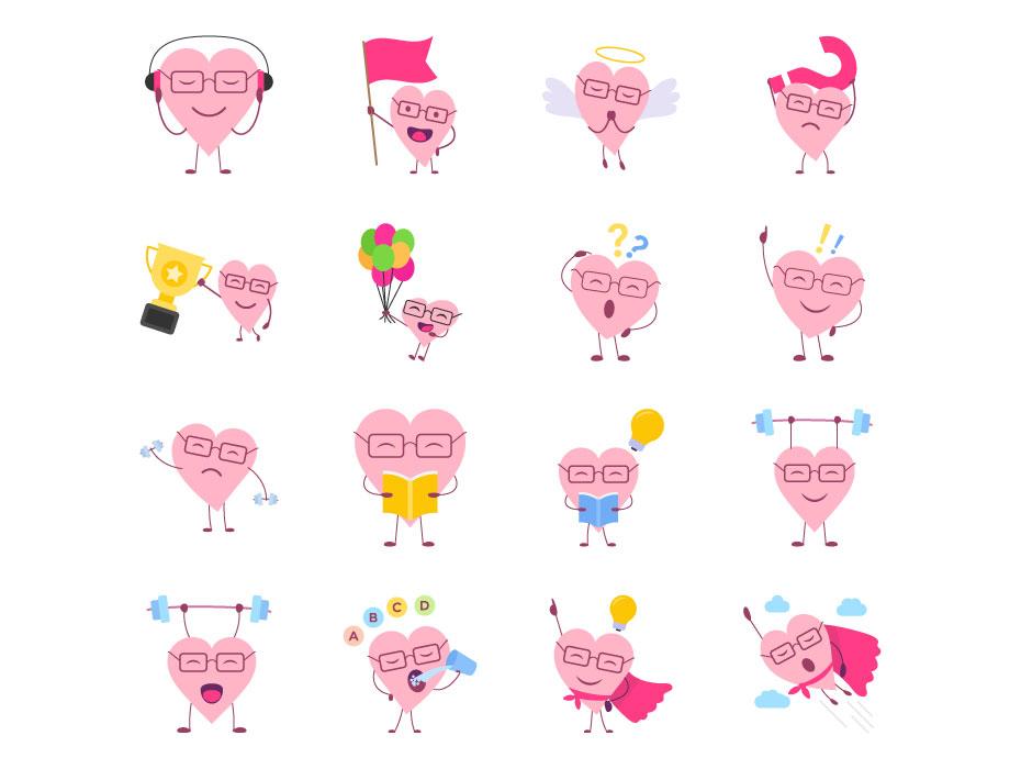 Free Hearts Animation Vector